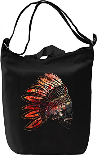 Indian Skull Power Borsa Giornaliera Canvas Canvas Day Bag| 100% Premium Cotton Canvas| DTG Printing|