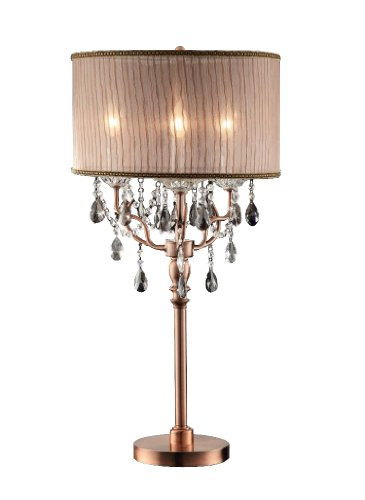 OK-5126t 35-Inch Rosie Crystal Table Lamp