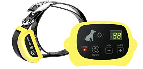 Outdoor Wireless Containment System Pet Supplies Electronic Dog Yard Portable Wireless Dog Fence System with Rechargeble and Waterproof Training Collar for Dog Cat (1.One Dog Fence, Yellow)