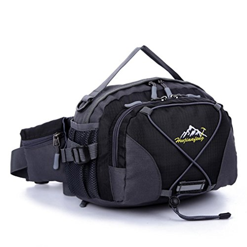11' Gold Glove (Iuhan® Fashion Waterproof Running Belt Bum Waist Pouch Fanny Pack Camping Sport Hiking Shoulder Bag (black))