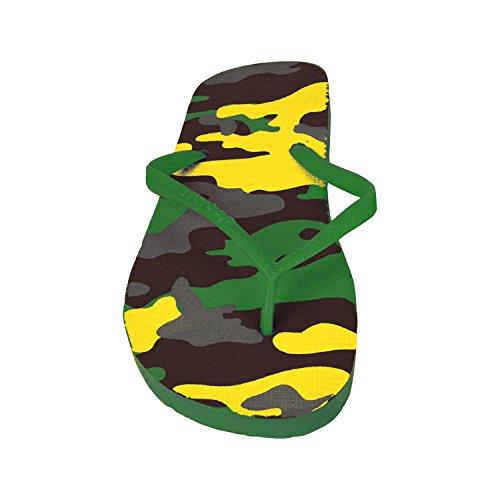 2073 Tongs pour homme fantaisie militaire - 3 couleurs - Plage - Vert, 44