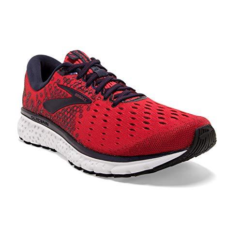 Brooks Mens Glycerin 17 Running Shoe - Red/Biking Red/Peacoat - D - 7.5
