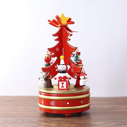 【お1人様1点限り】 Gizhome クリスマスツリー オルゴール 回転式オルゴール DIY DIY 子供用 時計仕掛けオルゴール クリスマスパターン オルゴール 子供用 レッド B07GD77YTB, 大麦工房ロア:36b66a8a --- arcego.dominiotemporario.com