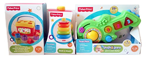 Fisher Price Rock And Learn Guitar Fisher Price Babys First Blocks   Brilliant Basics Rock A Stack