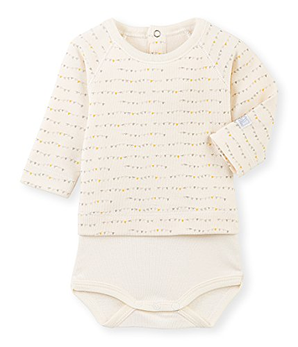 Petit Bateau Long Sleeve Bodysuit - Petit Bateau Long Sleeve Printed Bodysuit with Blouse, Multi, 18-24 Months Baby