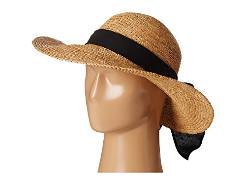 SCALA Women's Big Brim Raffia Hat, Tea, One Size