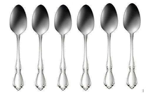 Oneida Chateau Teaspoons - Set of 6, Stainless Steel 18/8 by Oneida