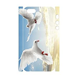 White Dove Brand New 3D Cover Case for Iphone 5,5S,diy case cover ygtg585498