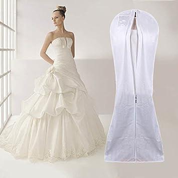 Ahg Extra Large Housse à Vêtements De Mariage Robe De Mariée Robe Sac De Rangement Housse Anti Poussière
