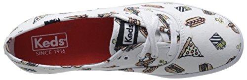Keds Mujeres Champion Boardwalk Con Pretzel Charm Zapatillas De Moda Blancas / Multicolores
