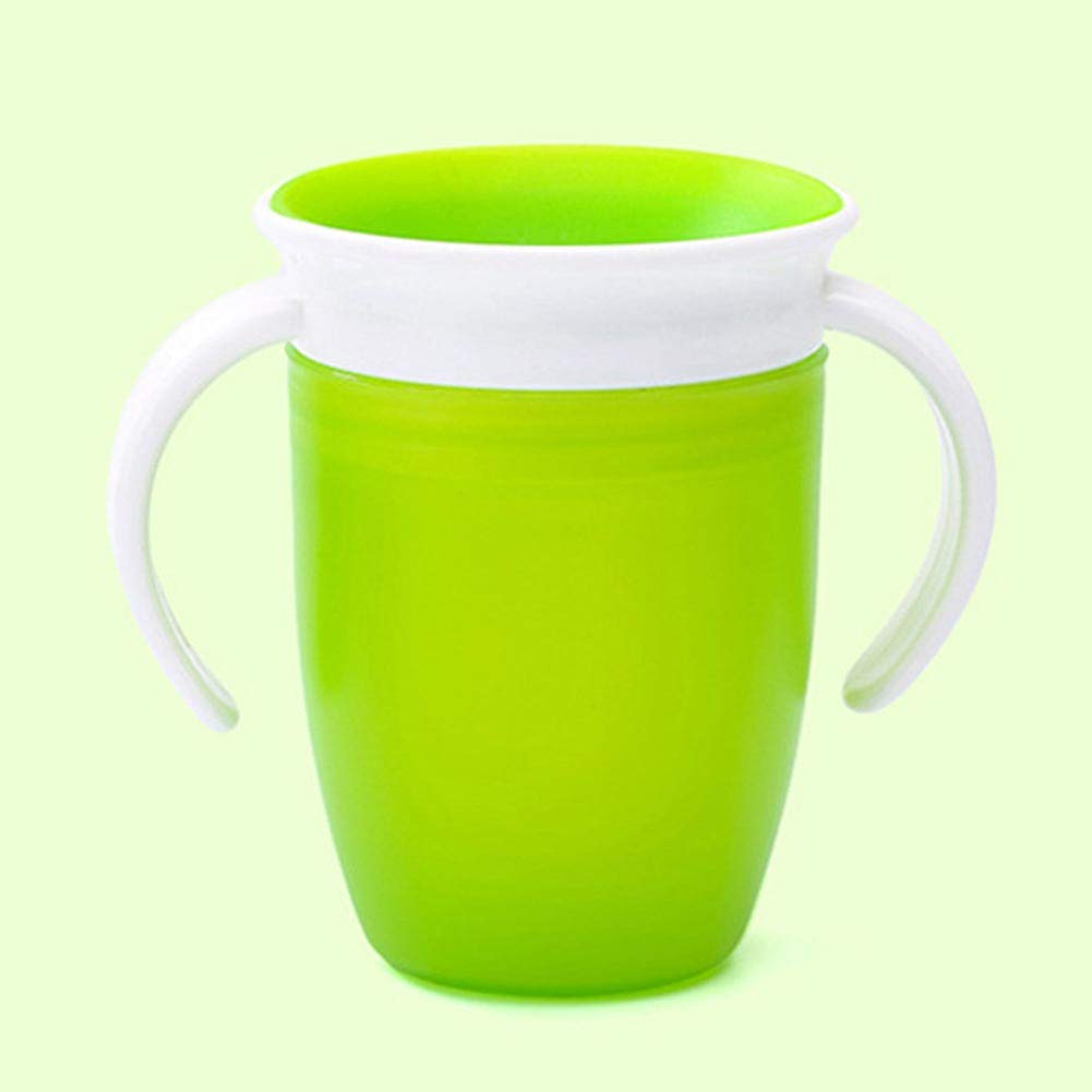 Silikon Schnabeltasse f/ür Baby und Kleinkind Trinkflasche mit Doppelgriff 360 Grad auslaufsicher Baby Trainer Tasse