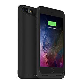 mophie 3679_JPA-IP7P-BLK Juice Pack Wireless - Qi Wireless Charging - Protective Battery Pack Case for Apple iPhone 8 Plus and 7 Plus – Black