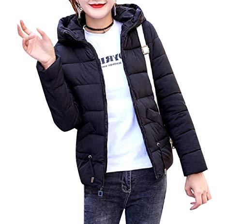 Mini Mogogo Jackets Down Womens Coat Parka Black Thick Outwear Hood Packable wqw65tr