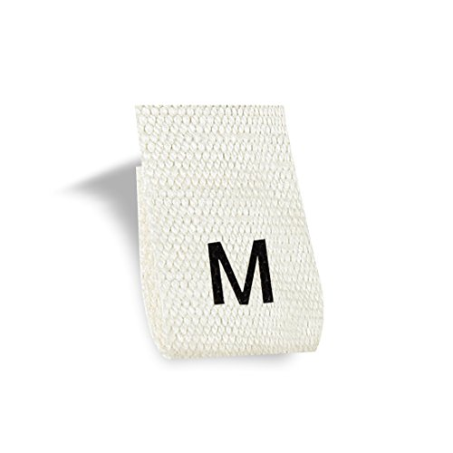 Wunderlabel Cotton Adult Size Label Woven Crafting Craft Art Fashion Ribbon Ribbons Tag Clothing Sewing Sew Clothes Garment Fabric Material Embroidered Labels Tags, Black on Cream, M 100 Labels by Wunderlabel