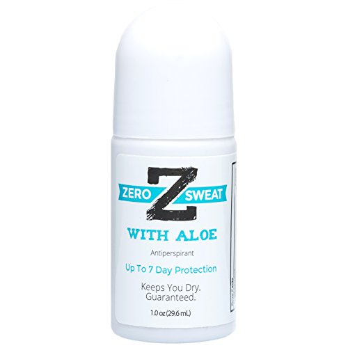 ZeroSweat Antiperspirant with Aloe - Hyperhidrosis Relief - For Sensitive Skin - Clinical Strength -
