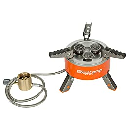 GOODCAMP Propane Fuel Portable Camping and Backpacking Stove Burner with Carrying Case Great for Emergency Preparedness Kit