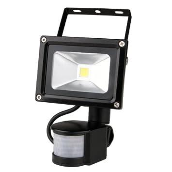 PIR Lámpara Con Sensor Movimiento Sonido Luz 10W Blanco