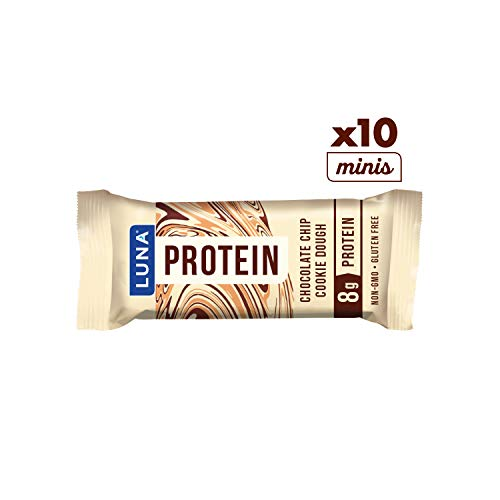 LUNA PROTEIN - Gluten Free Protein Bar - Chocolate Chip Cookie Dough - (1.59 Ounce Snack Bar, 12 Count)