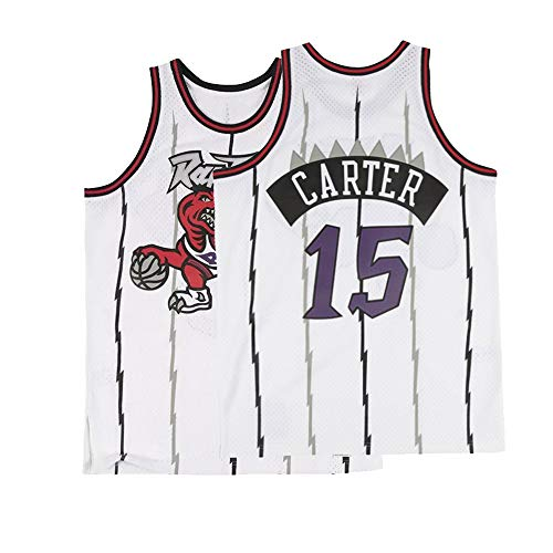 Basketball Carter Vince (Mens Carter Jersey Basketball VC Toronto 15 Hardwood Classic Adult Vince Sizes White (Small))