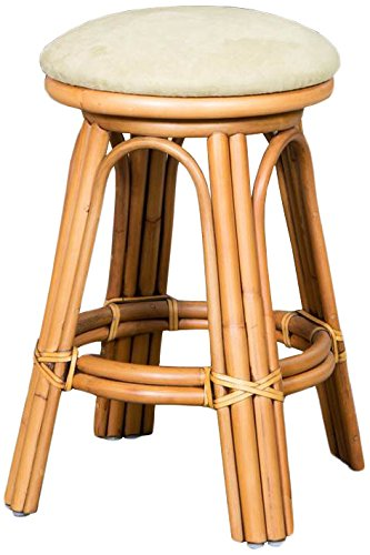 Alexander & Sheridan ALO10424-AH-OV Aloha Barstool in Antique Honey Finish with Backless, 24