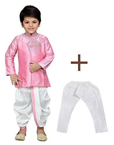 Kurta Dhoti (AJ Dezines Kids Indian Wear Bollywood Style Kurta Pyjamas Dhoti for Boys (1905-PINK-6))