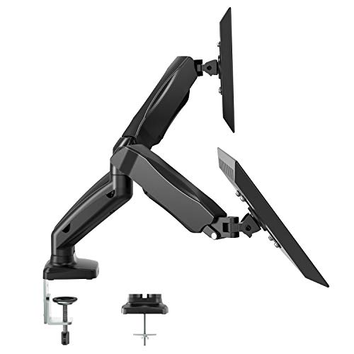 dual arm monitor stand