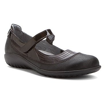 Naot Footwear Women's Kirei Black Leather Combo Flat 40 (US Women's 9) M