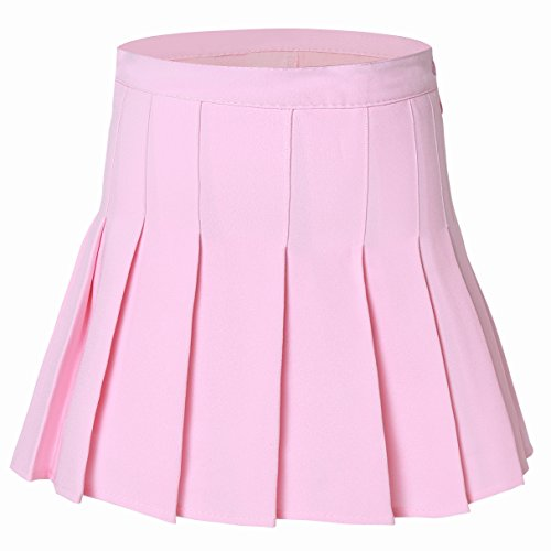 Cheerleading Skirt - Tremour Women's High Waist Pleated Checked Sexy Mini Slim Sports Costumes(2XL Pink)