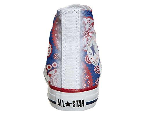 Converse All Star Hi Personnalisé et Imprimés chaussures coutume, Sneaker Unisex (produit Italien artisanal) Vintage Paysley