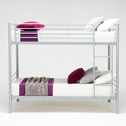 - Metal Twin over Twin Bunk Beds Frame Ladder Kids Adult Children Bedroom Dorm