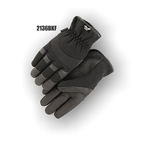 (12 Pair) Majestic FLEECE LINED SLIP-ON SYNTHETIC PALM GLOVES WITH KNIT BACK - XTRA LARGE(2136BKF/11) by Majestic (Image #1)