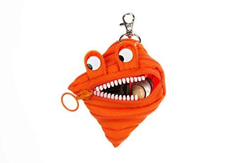 ZIPIT Monster Mini Pouch Coin Purse, Orange Photo #5