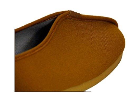 Lazutom Unisex Buddhist Monk Shoes Martial Arts Shoes Kung Fu Sneaker Yellow REpHuK