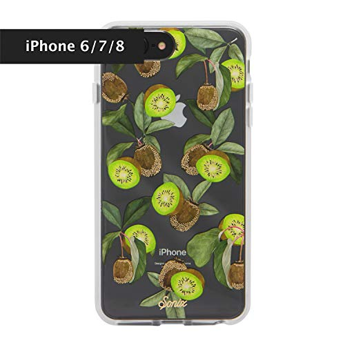 Sonix Kool Kiwi, (Green Fruit) Cell Phone Case [Military Drop Test Certified] Protective Clear Case for Apple iPhone 6, iPhone 7, iPhone 8