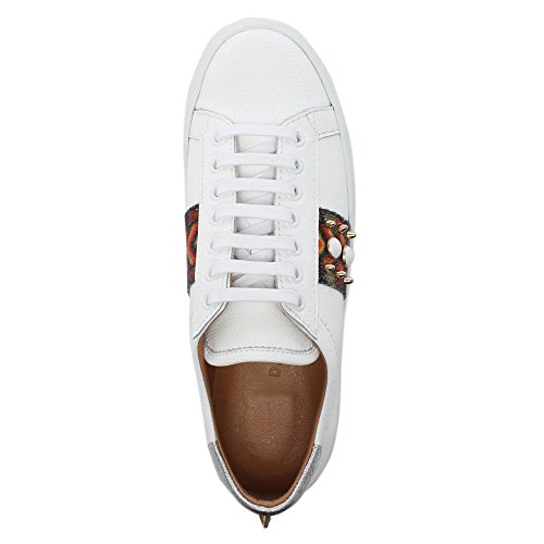 White Embellished Trainers Multicoloured Studliest White Leather Daniel qpYCTwxn