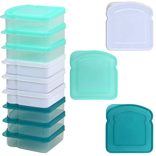 Mainstays Sandwich Containers, Assorted Colors, 12-Pack (Sandwich Containers For Kids)