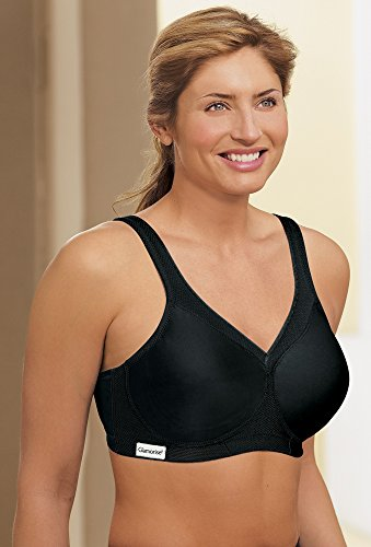 Glamorise Women's Full-Figure Sports Bra, Black, 34G