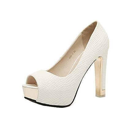 cf50cb5a03 Gaorui Women's Formal Evening Pumps Stilettos Peep Toe Serpentine Platform  Shoes Sandals: Amazon.com.au: Fashion