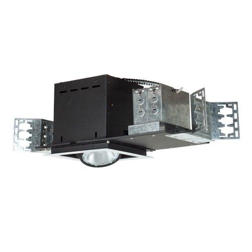 Jesco Lighting MYP30-1WB Modulinear Directional Lighting, Adjustable Yoke PAR30 1-Light Linear, Black Interior With White Trim (Yoke Trim)