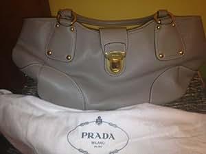 Prada Grey Purse: With Authenticity Certificate Card
