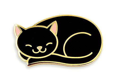 Pinsanity Cute Sleeping Cat Enamel Lapel Pin ()