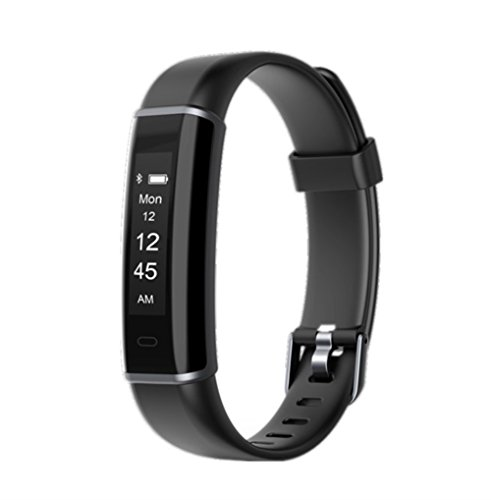 KEEPONFIT Fitness Tracker Watch, Fitness Watch Activity Tracker with Sleep Monitor, Smart Pedometer Watch for Step Distance Calories Track (black)