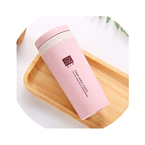 Love-pink 300ML Travel Vacuum Insulated Flask Thermos Water Cup Stainless Steel,Beige
