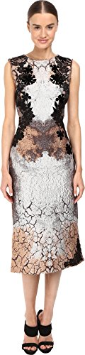 Alberta Ferretti Women's Sleeveless Placed Printed Dress, Fantasia, (Alberta Ferretti Sleeveless)