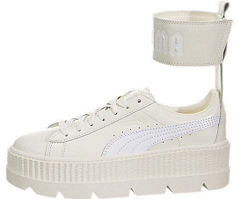 PUMA Women's Fenty x Ankle Strap Sneakers, Vanilla Ice White, 8.5 B(M) US