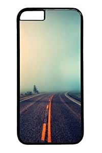 Foggy Road PC for Case For HTC One M7 Cover inch Black