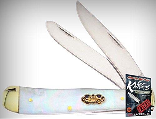 Frost Cutlery FSW108SMOP Steel Warrior Trapper Folding Limited Elite Knife MOP Handle Folder + free eBook by ProTactical'US