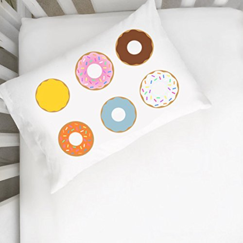 Oh, Susannah Donut Pillowcase - Cute Pillow Case (14x20 inch Pillowcase) Kids Room Decor Girls (Big Stick Super Plush Throw)