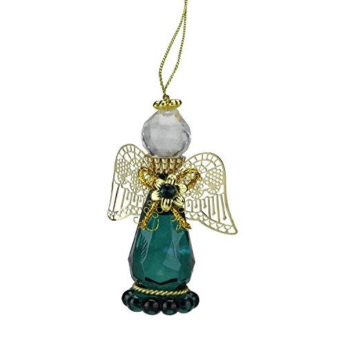 May Emerald Birthstone Gem Angel Christmas Ornament