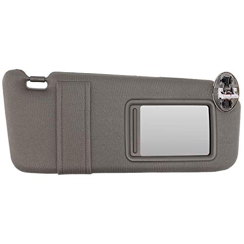 SAILEAD Right Passenger Side Sun Visor for 2007 2008 2009 2010 2011 Toyota Camry and Camry HV with Sunroof and Light (Gray, Right Size)